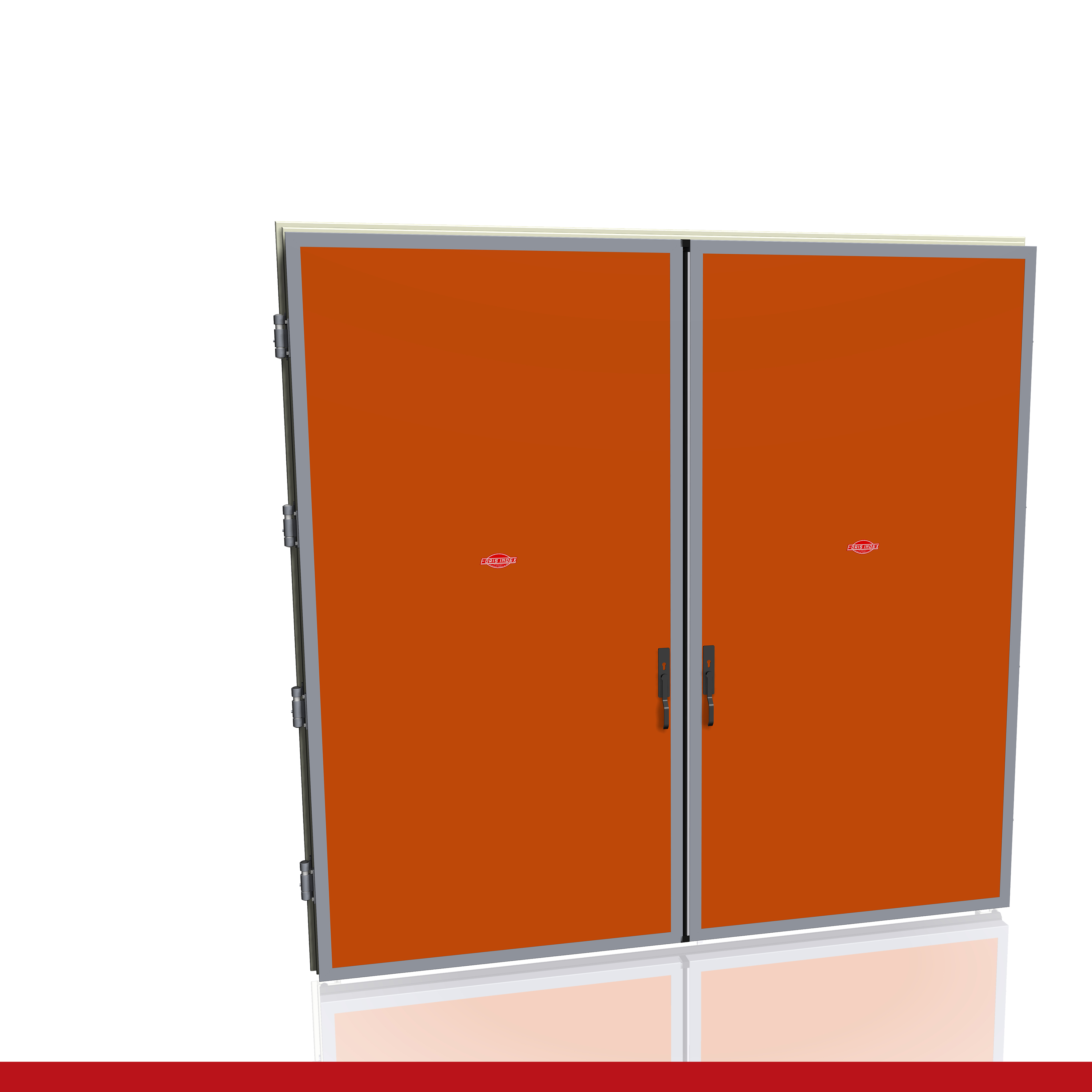 Porte Industriali - Maniglia standard - Due ante   Foris Index