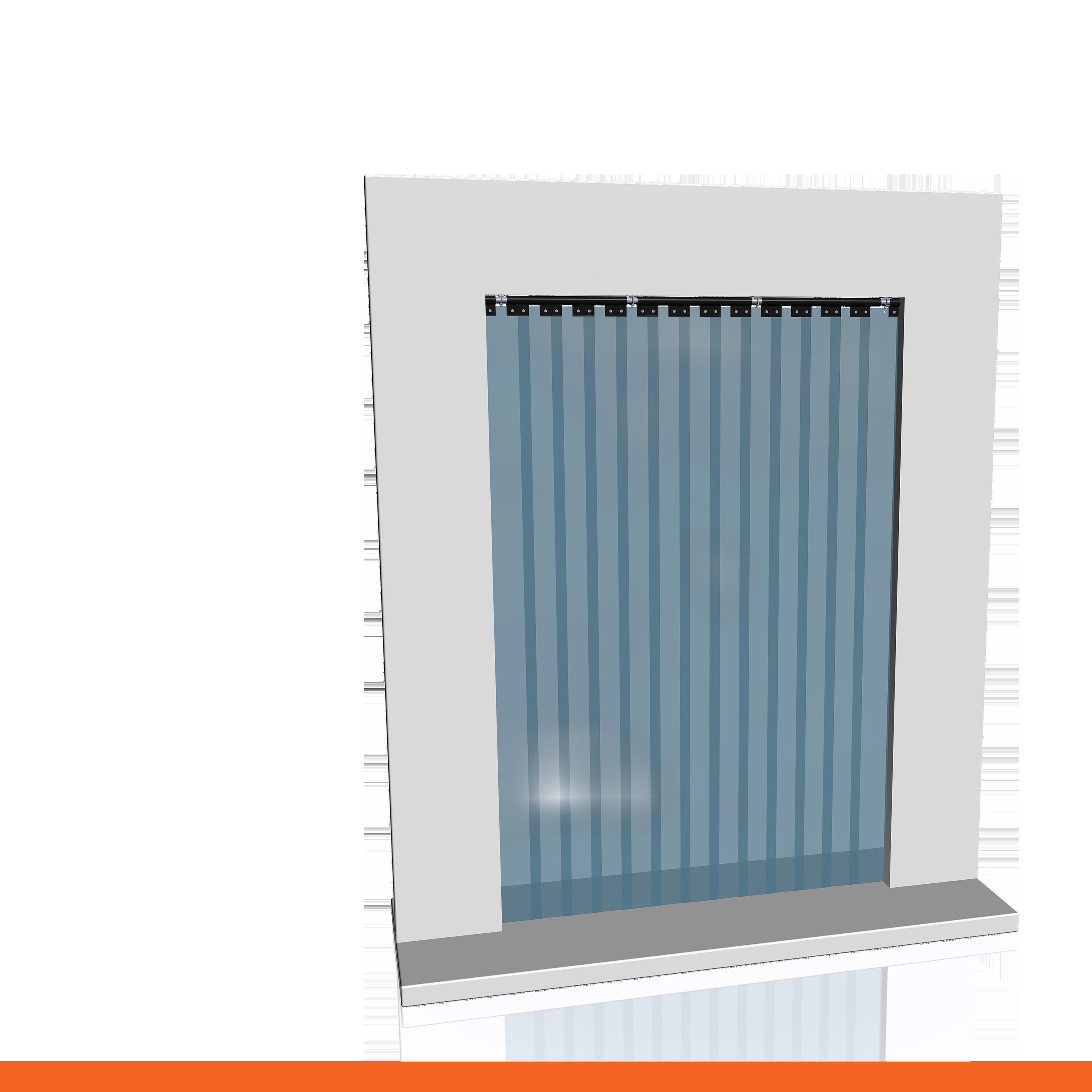 Porte per celle frigorifere fi ts 25 iv tende a for Tende a strisce in pvc