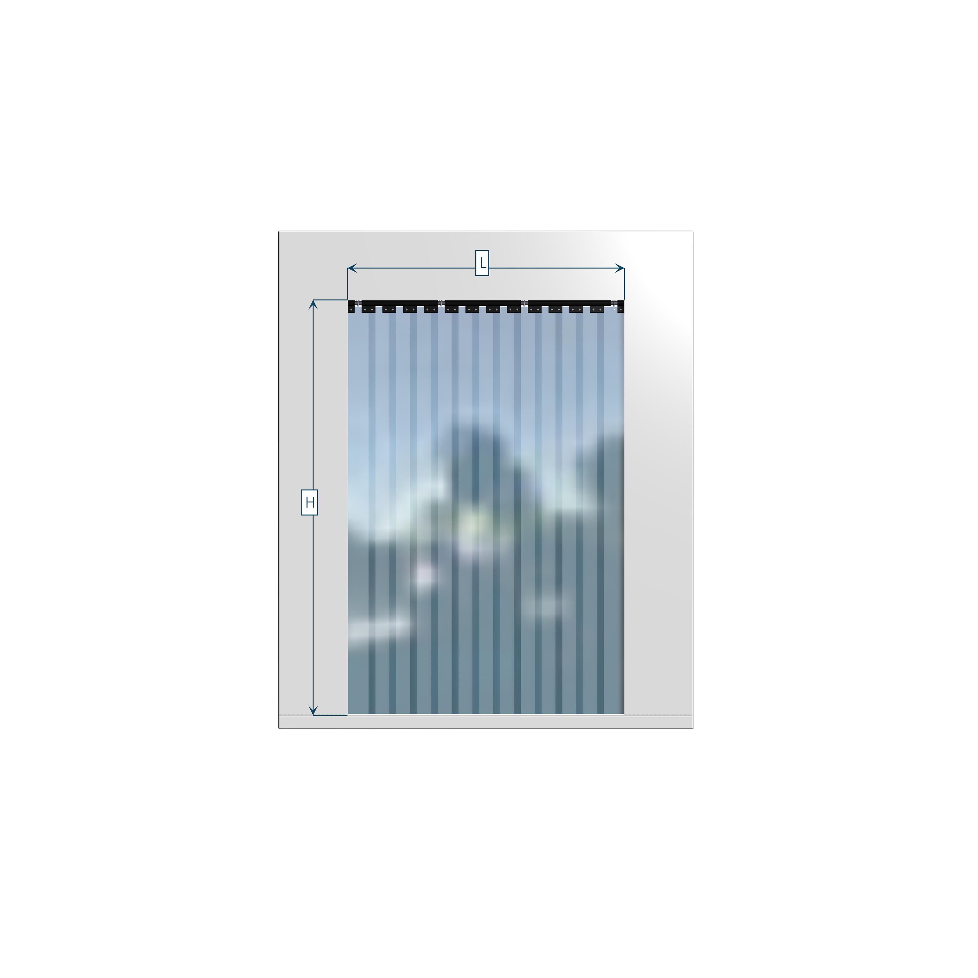 Tende a strisce bandelle in pvc 200x2 interno vano for Tende a strisce in pvc